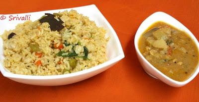 Vegetable Biryani with Seeraga Samba