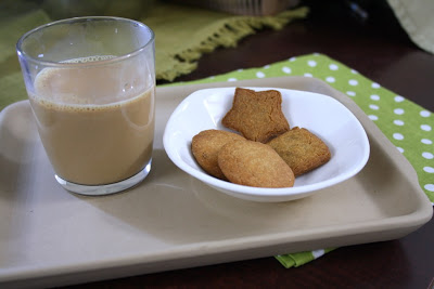 Thekua Biscuits with Chai