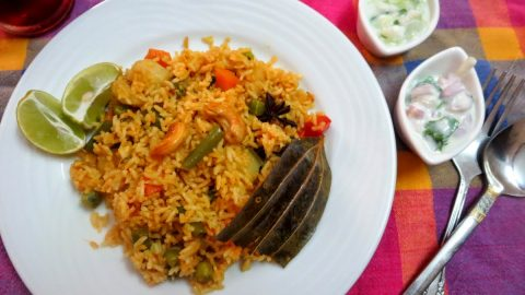 Chettinad Vegetable Biryani Tamil Nadu Special How To Make Chettinad Vegetable Biryani Indian Cooking Challenge February