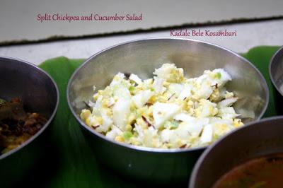 Chana Lentil and Cucumber Salad