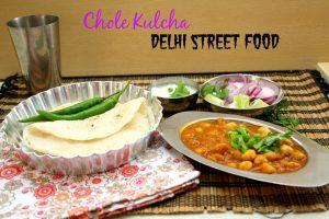 Chole Kulcha Delhi Street Food