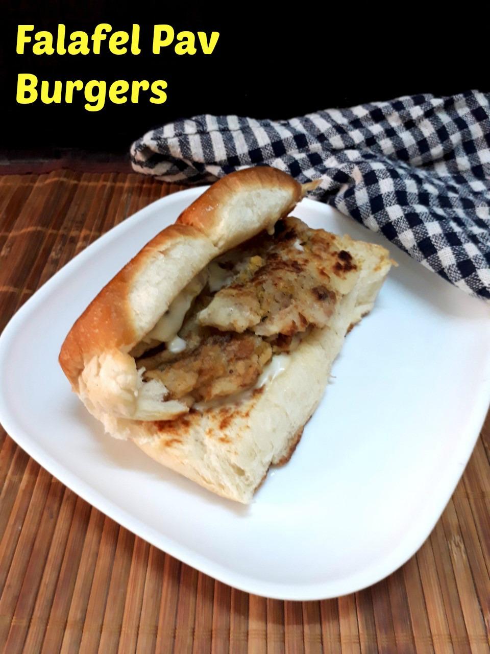 Falafel Pav Burgers