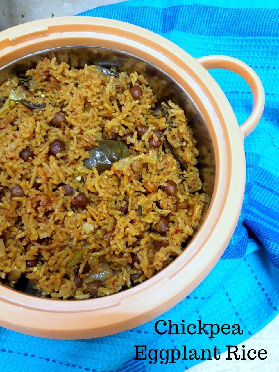 Chickpea Eggplant Rice