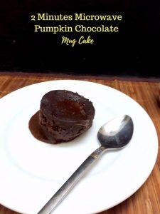 2 Minutes Pumpkin Chocolate Mug Cake