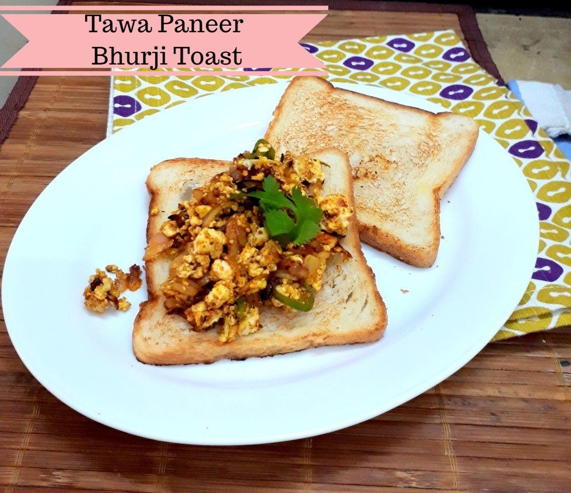 Tawa Paneer Bhurji Toast