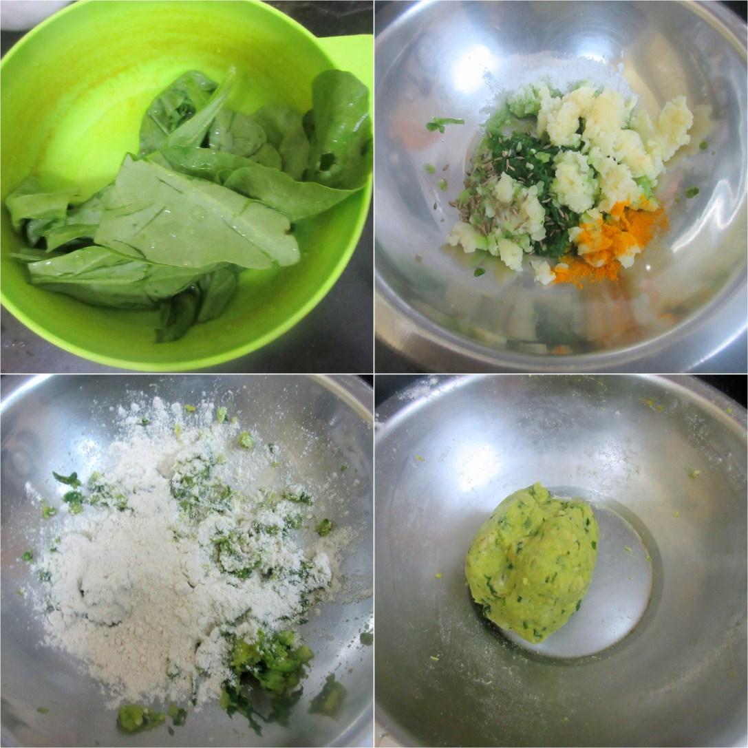 How to make Aloo Palak Poori 1