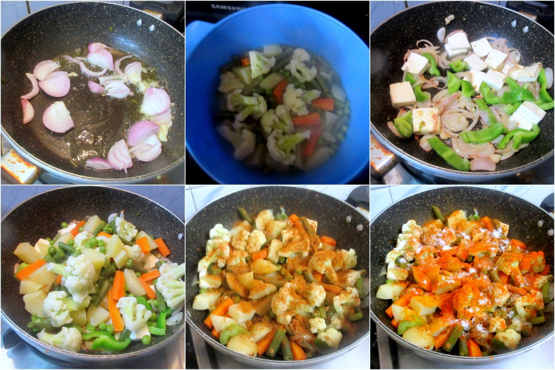 Making the Parda Biryani Vegetables 1