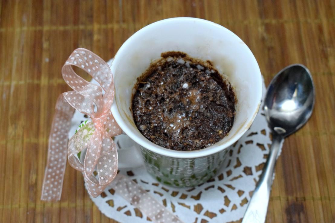 Eggless Microwave Nutella Mug Cake