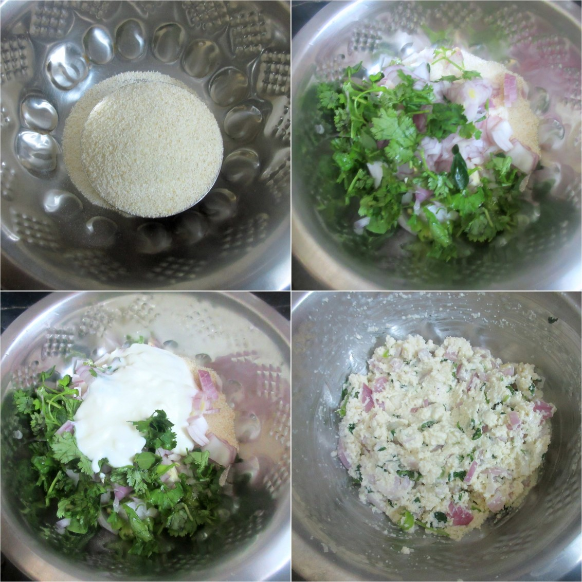 How to make Rava Vada 1