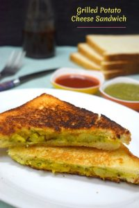 Grilled Potato Cheese Sandwich