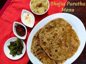 Bhujia Paratha Menu