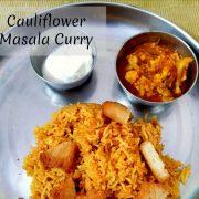 Cauliflower Masala Curry